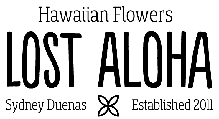 Logo for Lost Aloha Sydney Duenas Hawaiian Flowers